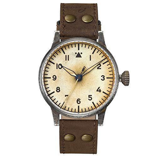 Laco Reloj piloto original Venedig Erbstuck 861943 aspecto antiguo antiguo antiguo reloj automático
