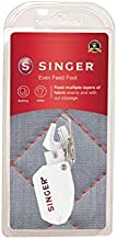 SINGER | Even Feed / Walking Presser Foot - Fork, Perfect for Matching Stripes & Plaids, Quilting & Sewing with Pile Fabrics - Sewing Made Easy
