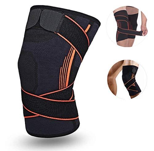 SOFIT Kniebandage Kompression Für Arthrose und Knieschmerzen, Knieunterstützung Bei Fitness, Gewichtheben, Joggen, 3D Atmungsaktive Knieschoner Für Damen und Männer (M, Black)