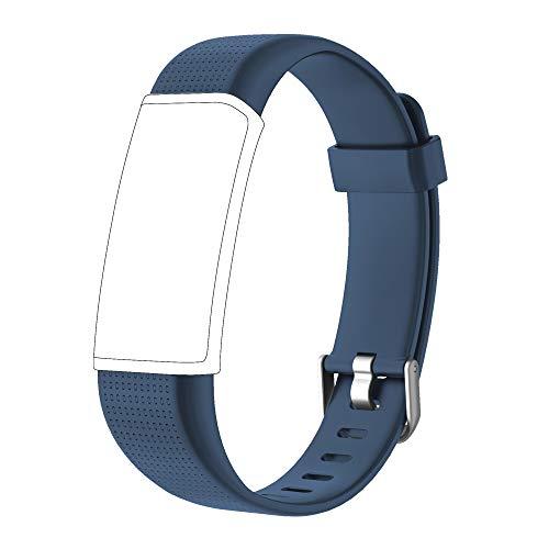 Willful Ersatz Armband Fitness Armband mit Pulsmesser (Grau-Blau)