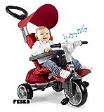 FEBER- Triciclo evolutivo Baby Plus Music Prime (Famosa 800012146), Multicolor