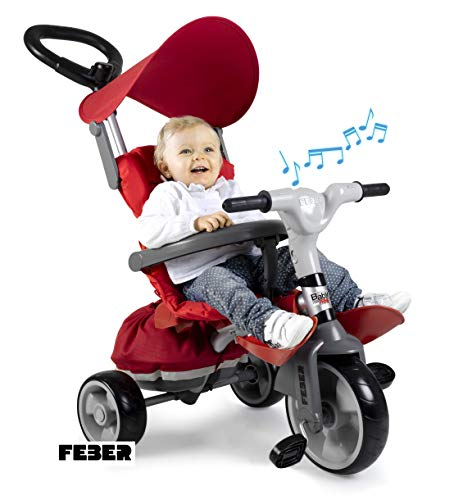 Famosa 800012146 - Baby Plus Music Prime, evolution driewieler met muziek Baby Plus Music Prime multicolor