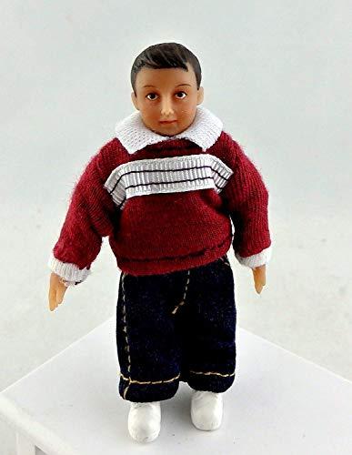 Maison de poupées travail homme en tablier 1:12 Miniature en porcelaine de personnes