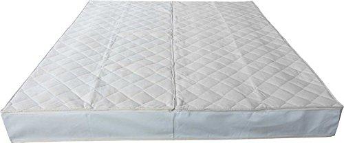 BetterSleepWell Frottee Wasserbettbezug Auflage Bezug Baumwolle für Wasserbett Rundumbezug 180 x 200 cm