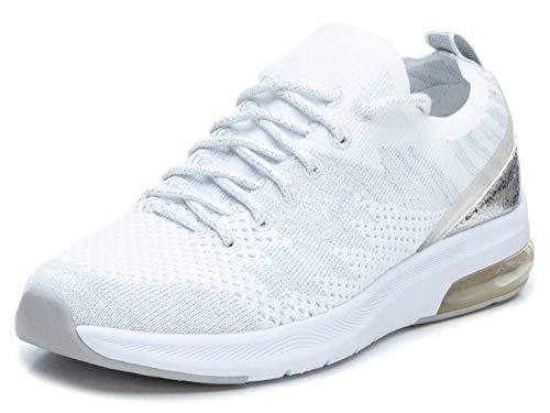 XTI - Zapatilla para Mujer - Cierre con Cordones - Color Blanco - Talla 38