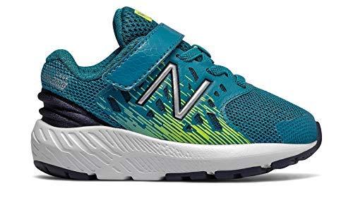 New Balance Boys' Urge V2 FuelCore Running Shoe, Ozone Blue/hi lite, 6.5 XW US Toddler