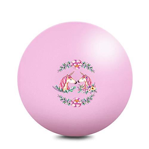 Pilates Ball 65cm, Bola de Yoga Anti-ráfaga, Bola de Fitness Antideslizante, Bola de Ejercicios para Pilates, Ejercicios en casa o en el Gimnasio, Capacidad de Carga de hasta 150 kg,Rosado