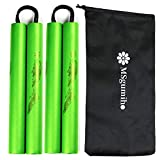 MSGumiho Nunchucks Nunchakus Safe Foam Rubber Training with Steel Chain 2PCS for Kids & Beginners Practice and Training...