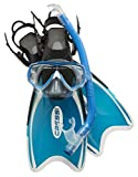 Cressi Mini Palau Bag Conjunto de Snorkeling, Unisex niños, Azul Claro, 32/35