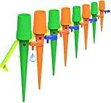 Dispositivi per l'irrigazione delle piante, confezione da 12 punte autoirriganti con staffa antiribaltamento e interruttore di controllo della valvola per piante da interno e da esterno