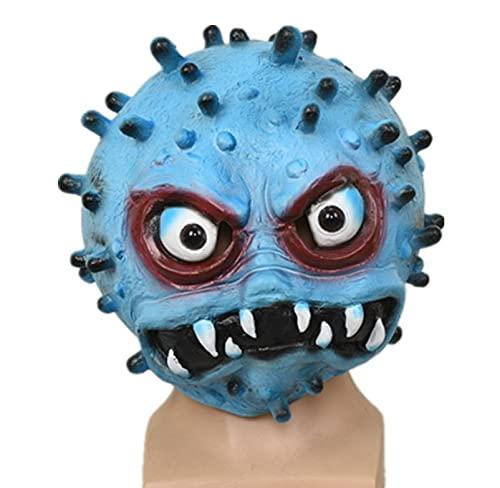 Milu deer Accesorios Propaganda Antiepidémica Máscara Virus Accesorios Carnaval Halloween Accesorios para La Cabeza para La Fiesta Halloween (Color : Azul, Size : One Size)