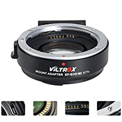 VILTROX EF-EOS M2 mount adapter is designed to allow Canon EF-mount series lenses to be used on interchangeable-lens digital cameras that compatible with EF-M lens. Focal length is multiplied by 0.71 based on the original (equivalent focal length =fo...