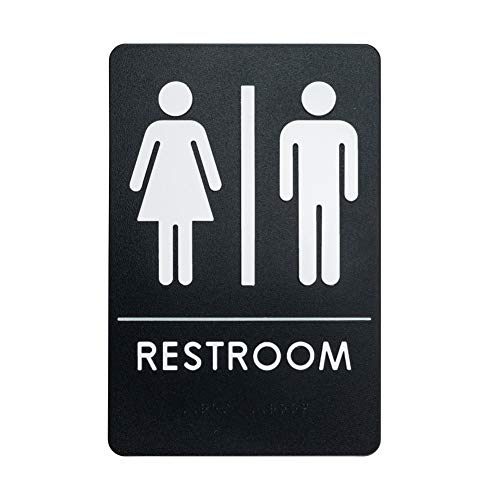 Rock Ridge Unisex Restroom Sign ADA-Compliant Bathroom Door Sign for Offices, Businesses, and Restaurants, Made in USA