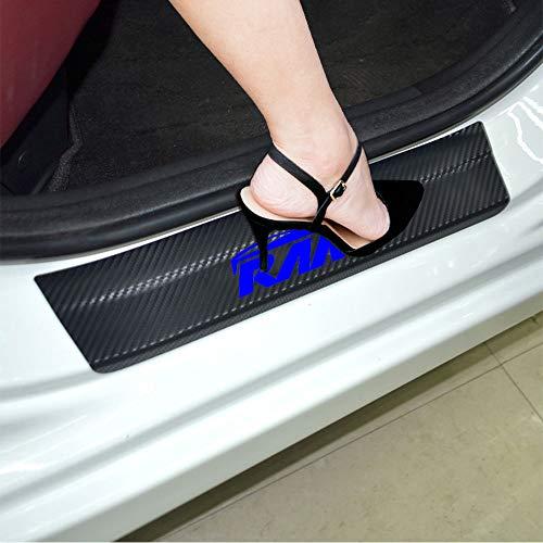 AOWIS RAM Door Emblems Decal Sticker Carbon Fibre Vinyl Reflective Car Door Sill Decoration Scuff Plate for RAM 1500 2500 3500 (Blue)