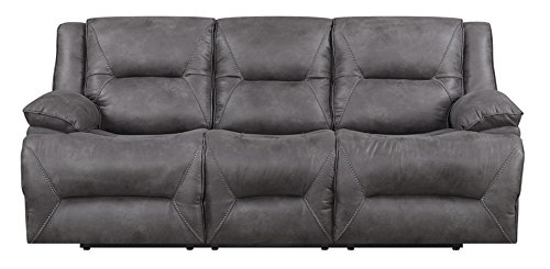 MorriSofa Everly Power Reclining Sofa, 90' x 38' x 40.5', Grey with subtle brown undertones