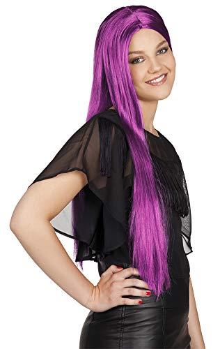 Perruque violette longue femme