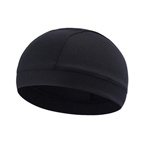 WINOMO Schwarz Skull Cap Quick Dry Sport Sweat Beanie Radfahren Caps Stirnband Schweißband - 4