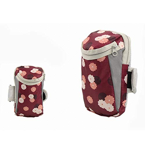 T & S ST Sport arm tas Reizen Sport Mobiele Telefoon Arm Tas Fitness Arm Tassen Mannen En Vrouwen Hardlopen Apparatuur Arm Set Pols Tas Reizen Accessoires Wijn rode bloem