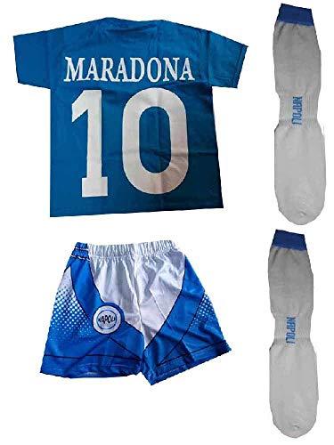 Juego de camiseta y pantalón corto y calcetines recuerdo de Maradona Buitoni