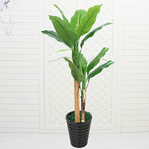 GETSO Gefälschte Vermögen Baum große Platane künstliche Pflanzen steuern Dekoration Bonsai Plastikblumen Kunstpflanzen mit Topf: 1.2m mit Topf