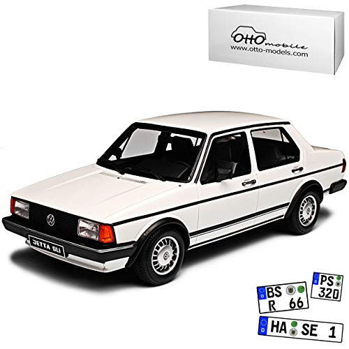 Volkwagen Jetta Limousine Weiss I 1. Generation 1979-1984 Nr 291 1/18 Otto Modell Auto