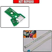 Kit Reparo Controle Ps4 - Placa Usb Jds-040 + Flat 12 vias