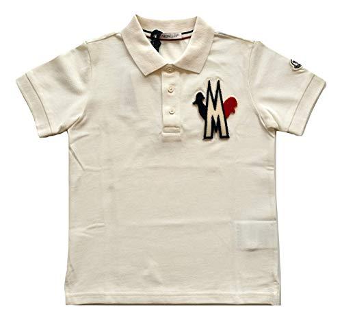 Moncler Junior Polo camiseta para niño E2 954 8312305 84632 blanco blanco 10 años