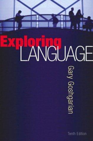 Exploring Language, 10th Edition