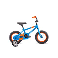 Aluminum frame for lightweight durability; designed to fit ages 4 to 8 or 44 to 52 inches tall BMX style high tensile steel fork 20 inch wheels keep the bike just the right size Coaster brake plus rear V brake to help young riders transition from ped...