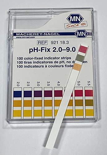 Macherey-Nagel, 92118, pH-Fix 2.0-9.0, Box of 100 Strips