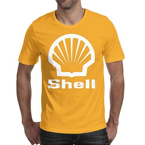 GuLuo Shell-Gasoline-Gas-Station-Near-me Mens T-Shirt O Neck Pretty Short Sleeve Tee