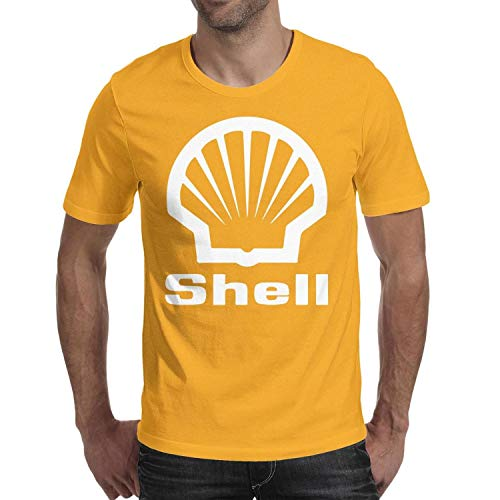 GuLuo Shell-Gasoline-Gas-Station-Near-me Mens T-Shirt O Neck Pretty Short Sleeve Tee