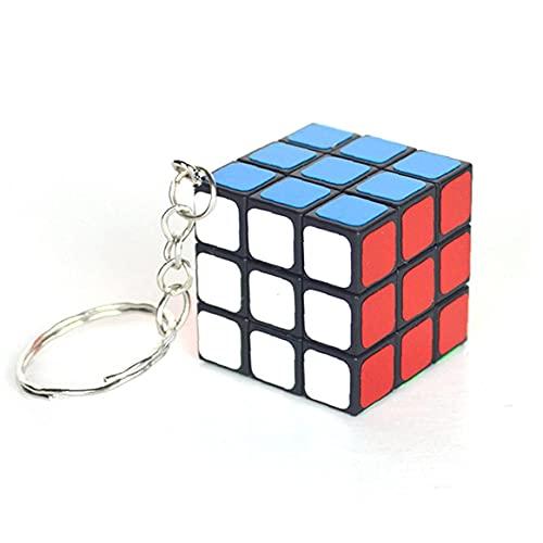 Froiny 1pc 3x3x3 Cubos Llavero Mini Cubo del Rompecabezas del Cubo Smooth Llavero Colgante De 3cm Bolsa De Regalo De Cumpleaños De Los Niños