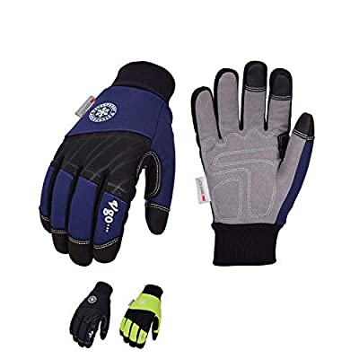 Vgo 3-Pairs 32? or above 3M Thinsulate C40 Lined Winter Synthetic Leather Work Gloves, Waterproof Membrane (Size XL, 3-Color Pack, SL1015FW)