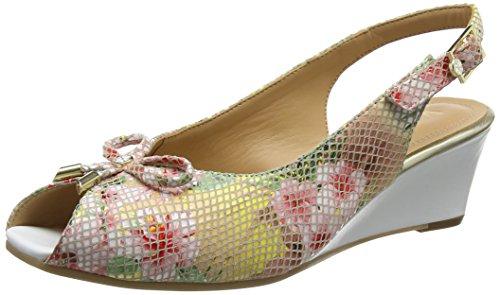 Van Dal Damen Oxley Slingback Sandalen, Mehrfarbig Tropical Floral Print Weiß, 34 EU
