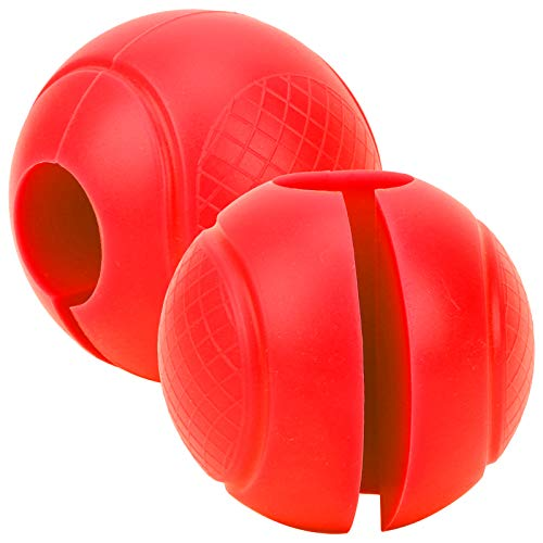 2 Stück Langhantelgriffe Runde Dicke Silikon Hantel Adapterkugeln Langhantelgriff Handwickelball