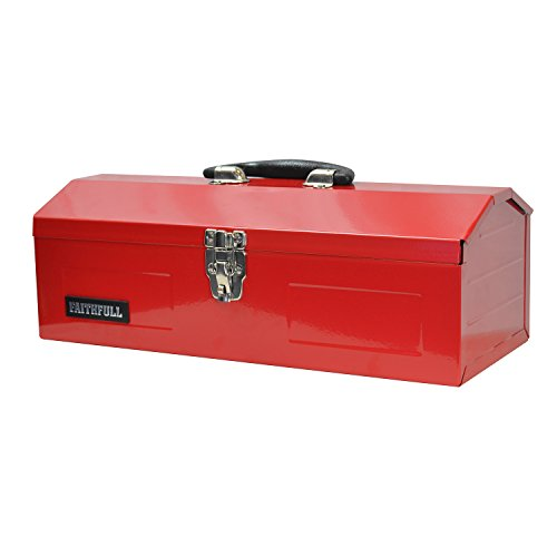 Faithfull TBB16 - Caja de herramientas con bandejas voladizas (metal, 42 cm)