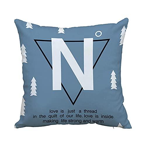 YINGZG Funda de Cojine 40x40cm 16x16 Inch Ciervo Cuadrado Cushion Cover Decoración Algodón Lino Lanzar Funda de Almohada Caso de la Cubierta Cojines para Sofá Decorativo Z6051