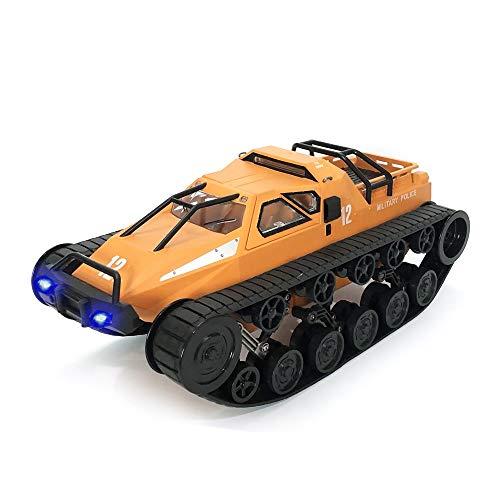 La batería de doble V2 de alta velocidad de deriva RC remoto Suspensión Toy Boy Control de orugas del tanque del coche de segunda generación Nueva naranja mano de niño modelo de simulación de coches d