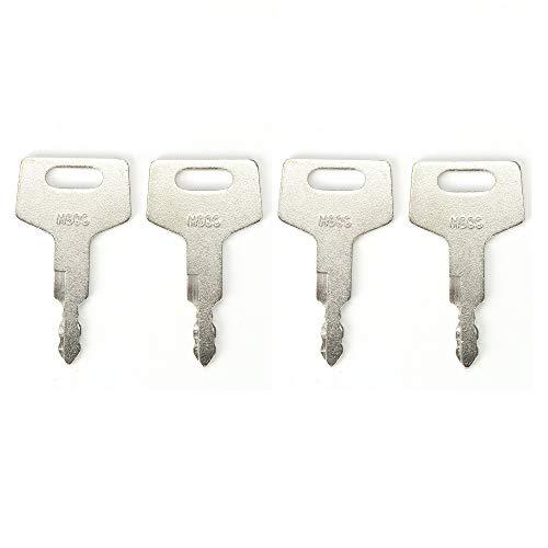 BAAQII 4 Stück H806 Schlüssel Ersetzter Zündschlüssel für Takeuchi Bagger & Kettenlader