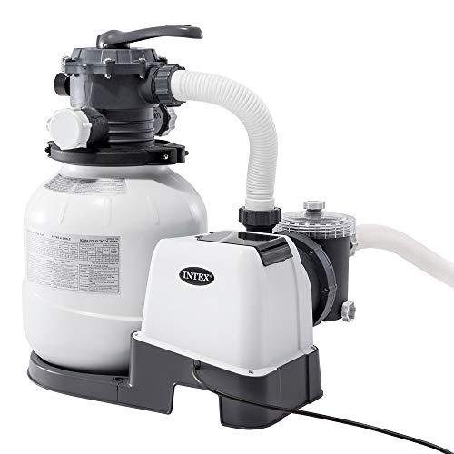 Intex Filtre épurateur à sable pour piscine hors sol - nouveau système Hydro Aeration avec un débit de 7 900 litres / heure (Tension : 220 - 240V)