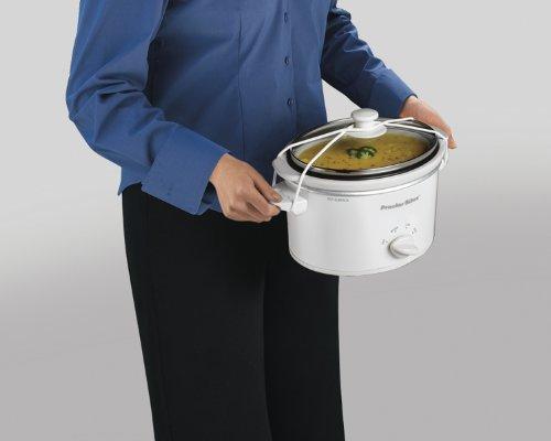 Proctor Silex 33116Y Portable Oval Slow Cooker, 1.5-Quart