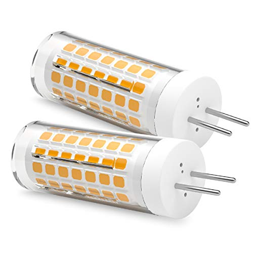 Ymm Bombilla LED G6.35 GY6.35 de 5 W, alta luminosidad, equivalente a una bombilla halógena de 60 W, blanco cálido, 3000 K (2 unidades) [Clase energética A+]