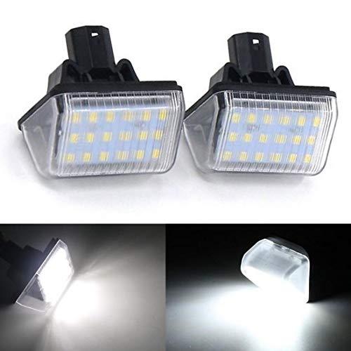 2pcs LED Luz de Matrícula Bombilla Licencia Número Placa L