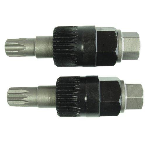2x kurze Lichtmaschinen Werkzeug Einsatz NUSS Vielzahn (Doppel-Sechskant/Doppel-6-kant) TORX®T50 XZN M10 für Freilaufriemenscheibe