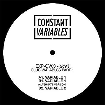 Club Variables Part 1