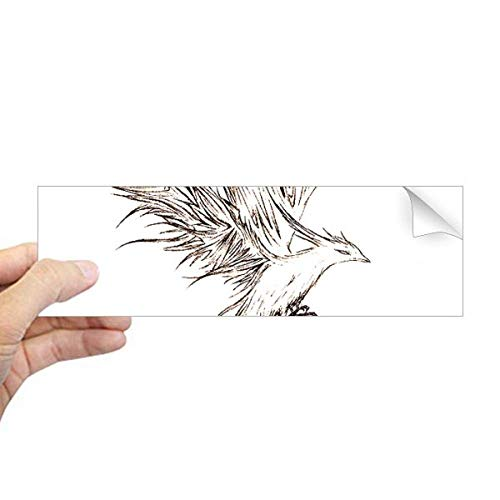 DIYthinker Rosefinch Schets Fuying Schilderij Vogel Fushicho Rechthoek Bumper Sticker Notebook Window Decal