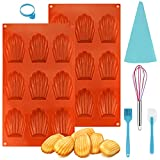 Stampi per madeleine in silicone a 9 fori, per torta, gelatina, budino, mousse, pasticceria, senza BPA