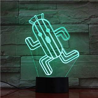 Lampara LED Final Fantasy Cactilio Cambia Color USB Luz Nocturna