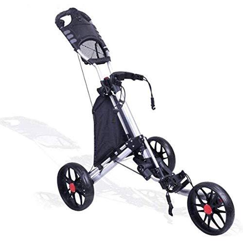 SJB Golf Trolley Golf-Trolley-Folding Golf Cart Licht/Compact Golf Cart Der Griff hat auch viele Funktionen, einschließlich einem Scorekartenhalter
